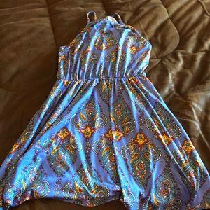 Stitch Fix blue print summer dress small